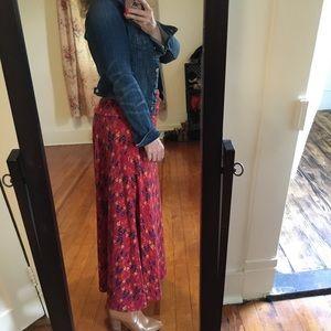LuLaRoe Skirts - LuLaRoE Maxi Skirt Printed Orange